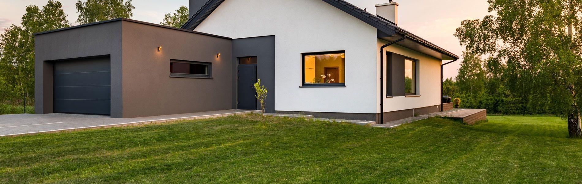 a typical garage photo image american and suburban in door neighborhood stock driveway